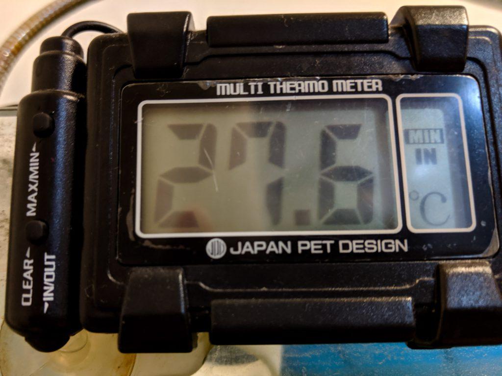 2019年8月6日の最低水温は27.6℃